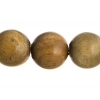 Bead-brazil Sandalwood Round 8In 20mm Light Green